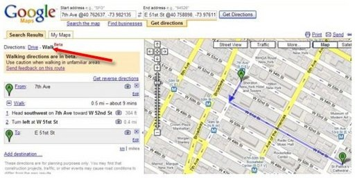 google-maps-pieton