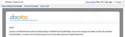 traduction email