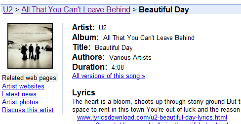 google-music-infos
