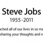 Page d'hommages sur le site d'Apple