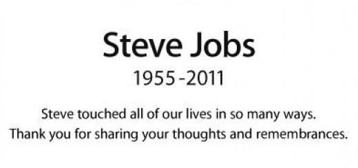 Hommage sur le site d'Apple