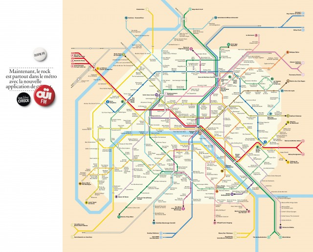 Plan rock du métro - OUIFm
