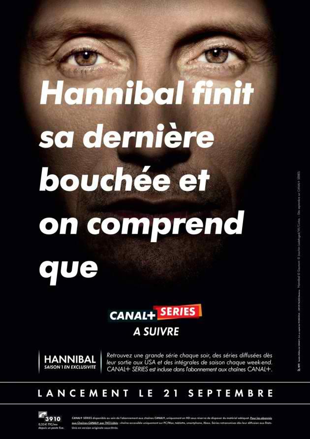 Hannibal finit sa dernière bouchée et on comprend que