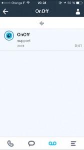 Consulter son répondeur sur l'application OnOff