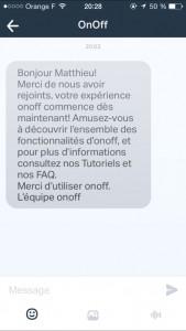 Envoyer des SMS avec OnOff