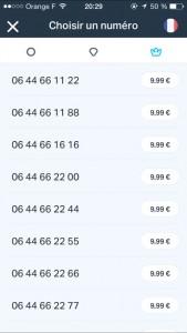 OnOff propose des numéros à 2.69 / 4.99 / 9.99 euros
